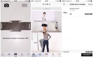 Tecnología comercial en Zara