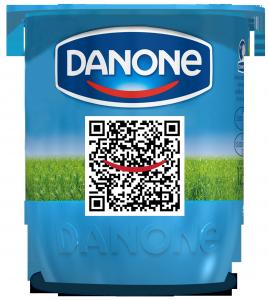 Yogur Danone con QR